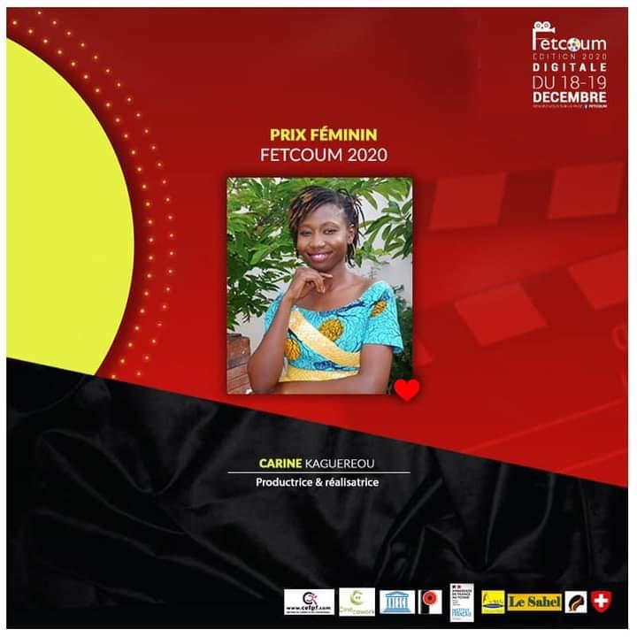 Carine Kaguereou est la lauréate du prix féminin du FETCOUM 2020