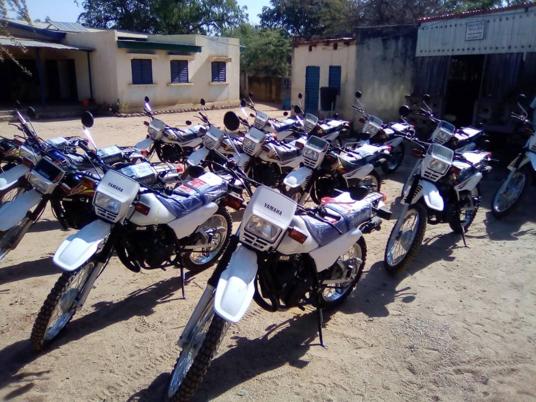Province: remise de 15 motos aux zones de responsabilité du district sanitaire de Mongo