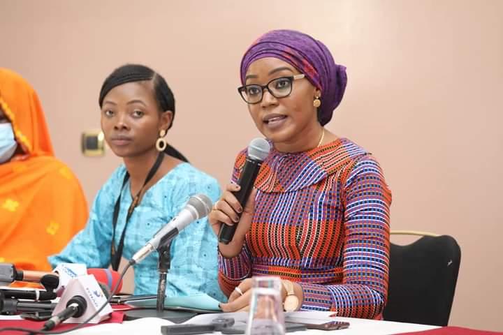 La ministre de la femme Amina Priscille Longoh dit non aux violences faites aux femmes