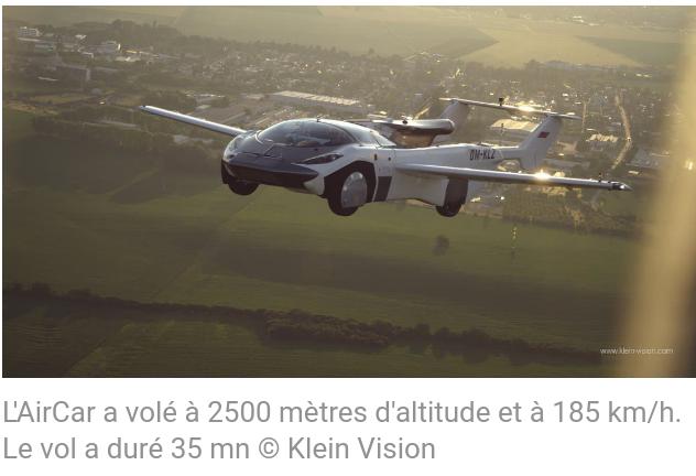 L'engin a atteint une altitude de 2 500 mètres pendant 35 minutes avant d'atterrir et prendre la route