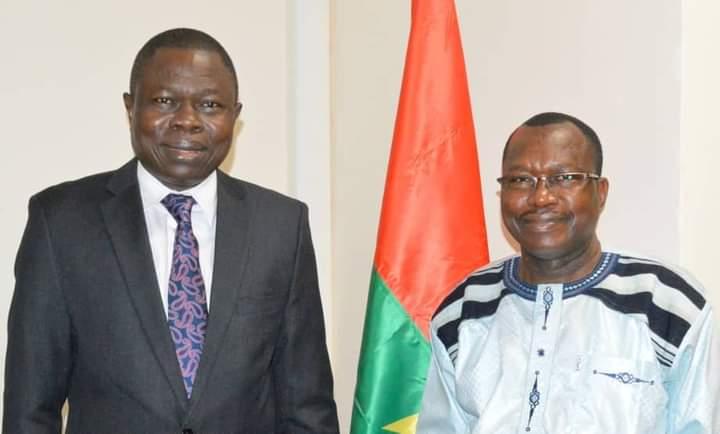 Présidence burkinabè du Fonds Africain de Garantie et de Coopération Economique (FAGACE) : le Directeur général Ngueto Tiraïna YAMBAYE venu  recevoir les orientations du ministre Lassané KABORE