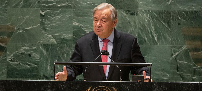 76ème session de l'AG des Nations Unies : Face aux menaces et aux divisions, le monde doit se réveiller, affirme le chef de l'ONU, António Guterres