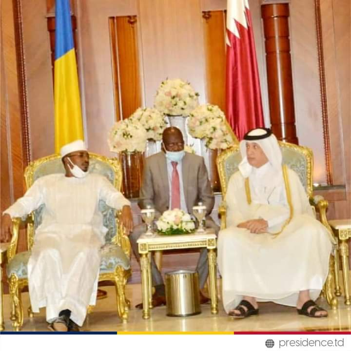 Mahamat Idriss Déby Itno reçu par l'émir du Qatar ce matin