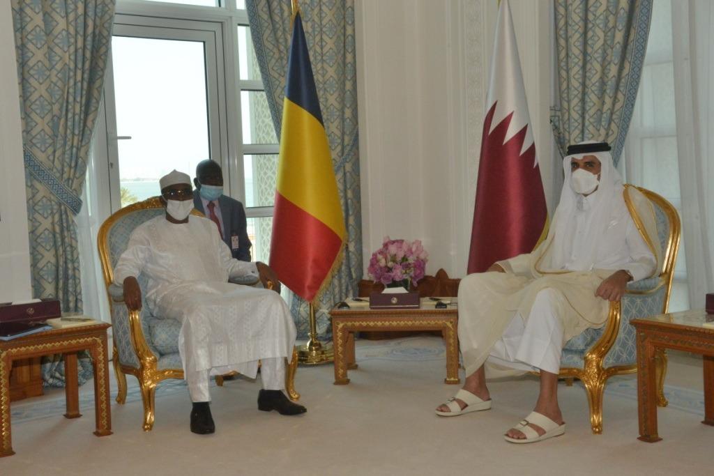 Lors de l'entretien élargi à Doha, le Tchad souhaite l'accompagnement des Qataris